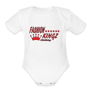 Red Fashion Kingz Short Sleeve Baby Bodysuit