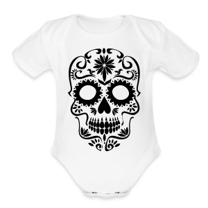 Sugar Skull - Short Sleeve Baby Bodysuit