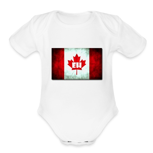 Canada EH By Jamal J. Brands - Organic Short Sleeve Baby Bodysuit