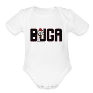 Official BUGA Logo - Short Sleeve Baby Bodysuit
