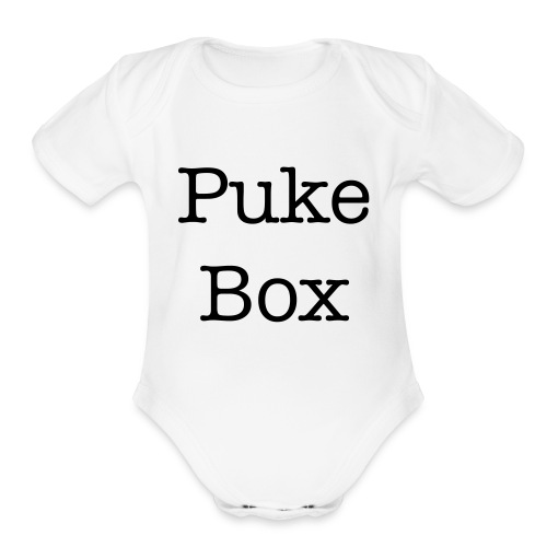 Puke Box Baby Shower Gift - Organic Short Sleeve Baby Bodysuit