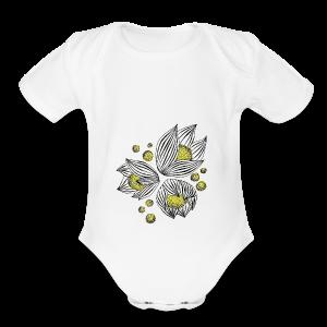 Floral design - Short Sleeve Baby Bodysuit