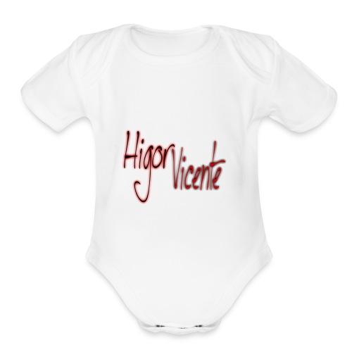 cats00002 - Organic Short Sleeve Baby Bodysuit