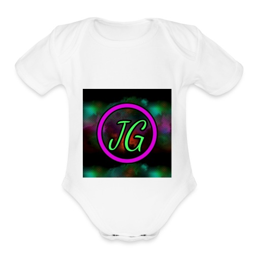 Joker Gaming Logo - Organic Short Sleeve Baby Bodysuit