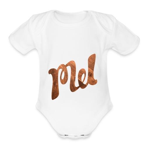 mel - Organic Short Sleeve Baby Bodysuit