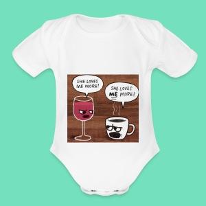 coffee v wine - Short Sleeve Baby Bodysuit