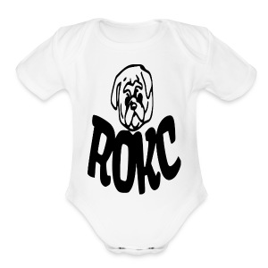 ROKC ALTERNATE LOGO - Short Sleeve Baby Bodysuit