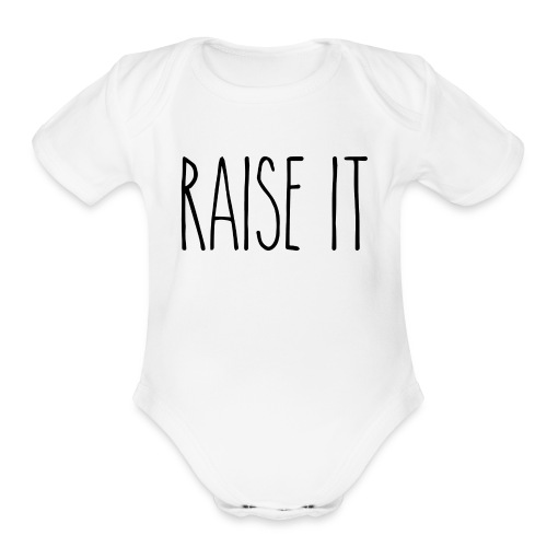 Raise It R.D. - Organic Short Sleeve Baby Bodysuit