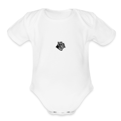 glass house logo - Organic Short Sleeve Baby Bodysuit