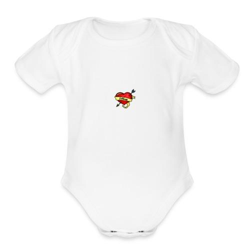 i love mom - Organic Short Sleeve Baby Bodysuit