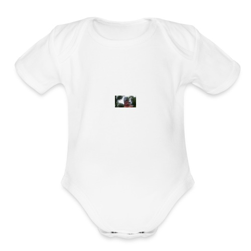 Fiest video shirt!!!!! - Organic Short Sleeve Baby Bodysuit