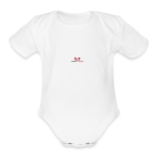 Happy Virgin Logo - Organic Short Sleeve Baby Bodysuit