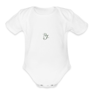 RJ logo homepage box - Short Sleeve Baby Bodysuit