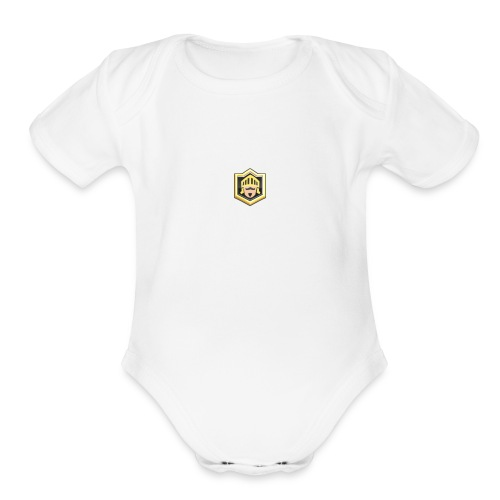 SAVAGES LOGO - Organic Short Sleeve Baby Bodysuit