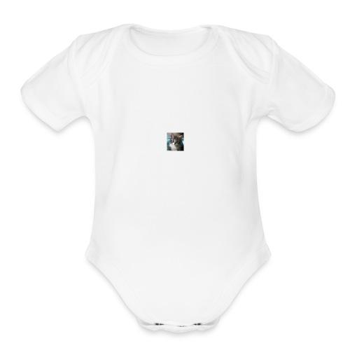 catpic - Organic Short Sleeve Baby Bodysuit