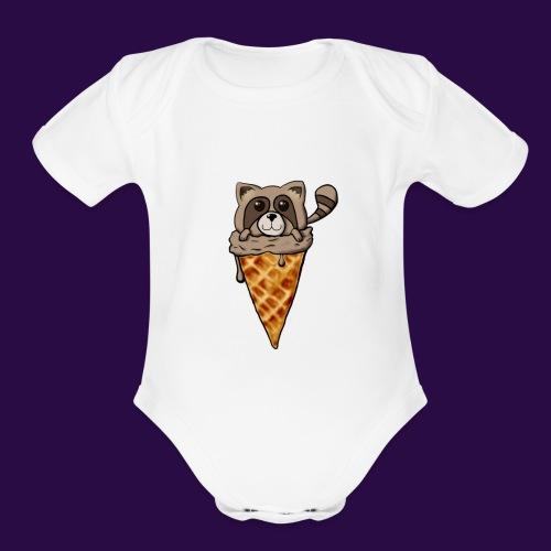 Tanuki Ice Cream - Organic Short Sleeve Baby Bodysuit