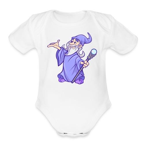 Cartoon wizard - Organic Short Sleeve Baby Bodysuit