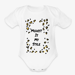 Modest is my style - Short Sleeve Baby Bodysuit