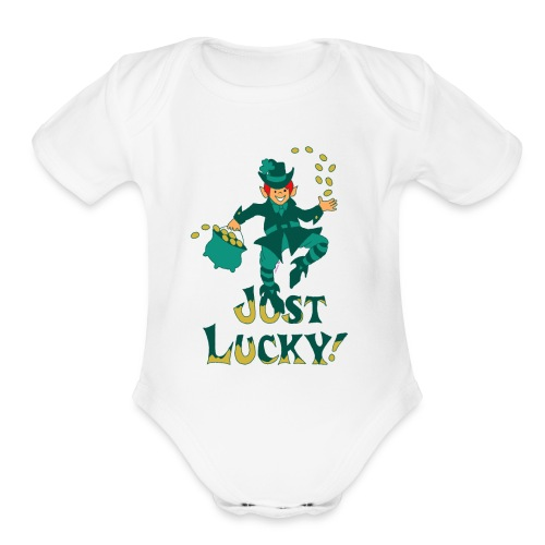 Just Lucky - Organic Short Sleeve Baby Bodysuit