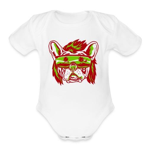 Beach Pooch - Organic Short Sleeve Baby Bodysuit