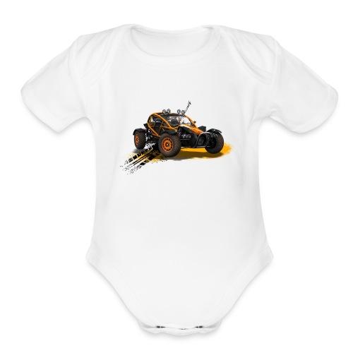 car - Organic Short Sleeve Baby Bodysuit