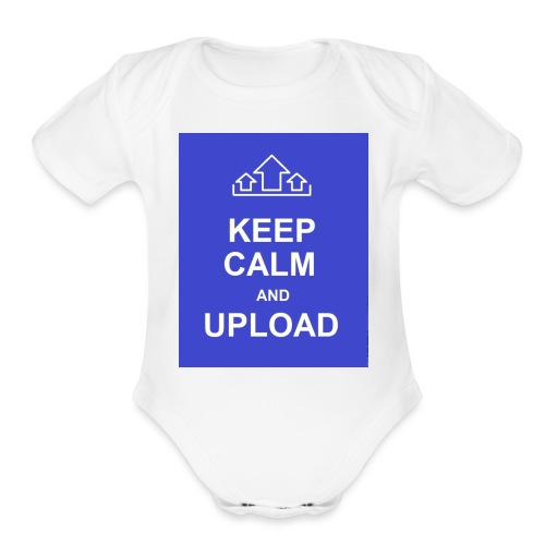 RockoWear Keep Calm - Organic Short Sleeve Baby Bodysuit