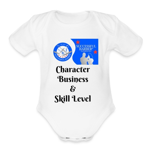 Character, Business & Skill Level - Organic Short Sleeve Baby Bodysuit