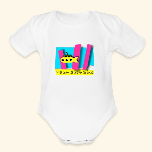 Yellow Submarine-CMKY - Organic Short Sleeve Baby Bodysuit