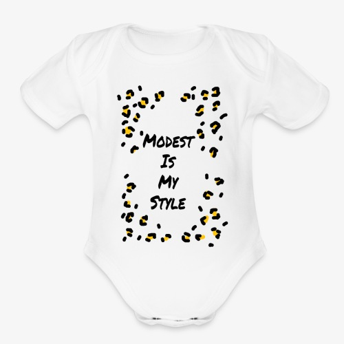 Modest is my style - Organic Short Sleeve Baby Bodysuit