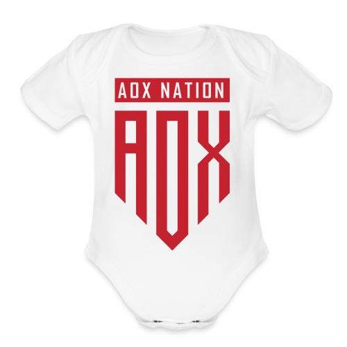 A0XNATION EMBLEM - Organic Short Sleeve Baby Bodysuit