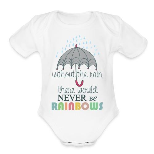 Without the Rain - Organic Short Sleeve Baby Bodysuit