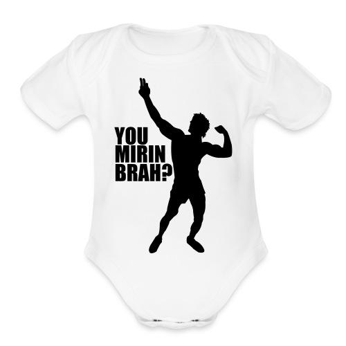 Zyzz Silhouette You mirin brah? - Organic Short Sleeve Baby Bodysuit