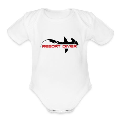Resort Diver - Organic Short Sleeve Baby Bodysuit