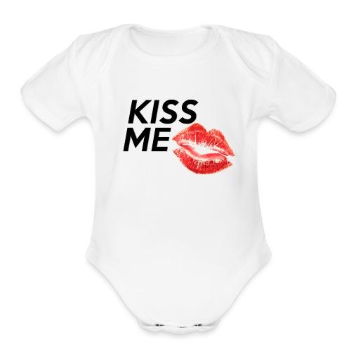Kiss Me! - Organic Short Sleeve Baby Bodysuit