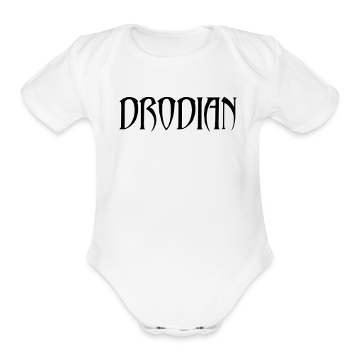 CLASSIC DRODIAN (BLACK LETTERS) - Organic Short Sleeve Baby Bodysuit