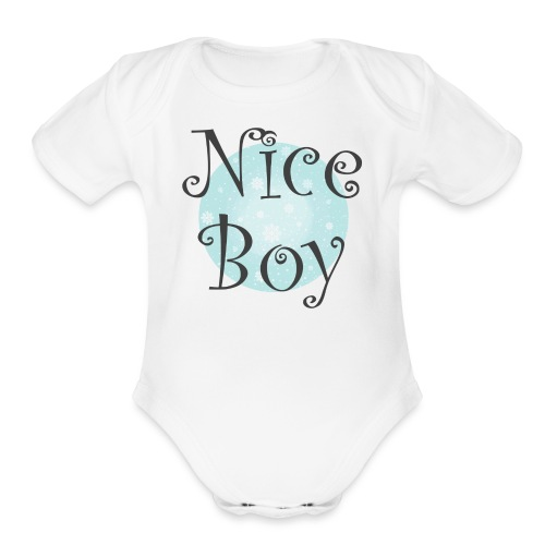 Nice Boy - Organic Short Sleeve Baby Bodysuit