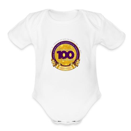 ONFJ Centennial Medallion - Organic Short Sleeve Baby Bodysuit
