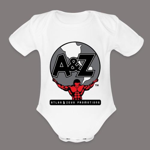 A Z Logo Randy Santel - Organic Short Sleeve Baby Bodysuit
