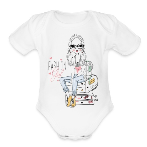 Fashion Girl Products - Organic Short Sleeve Baby Bodysuit