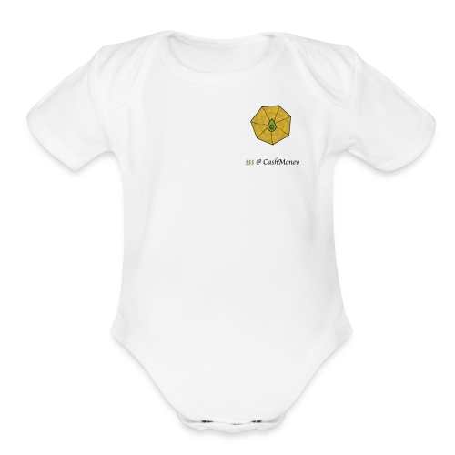 cashmoney - Organic Short Sleeve Baby Bodysuit