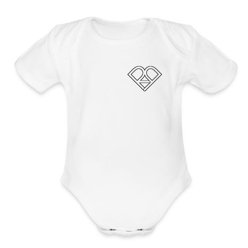 Riggi & Piros Heart - Organic Short Sleeve Baby Bodysuit