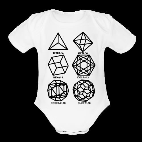 SHAPES^x - Organic Short Sleeve Baby Bodysuit