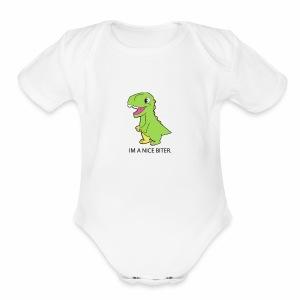 BABY DINO - Short Sleeve Baby Bodysuit