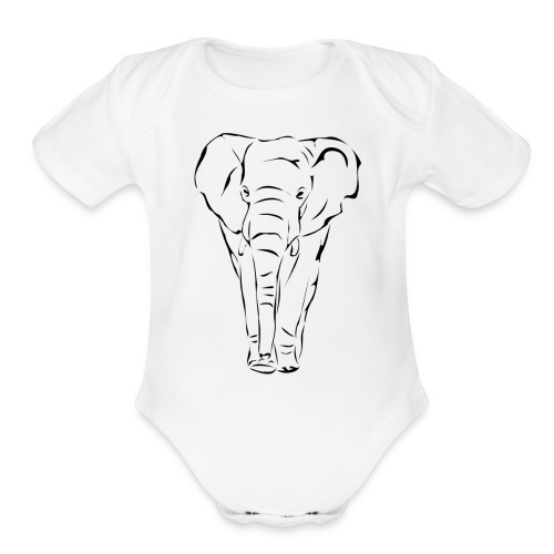 The Noble Elephant - Organic Short Sleeve Baby Bodysuit