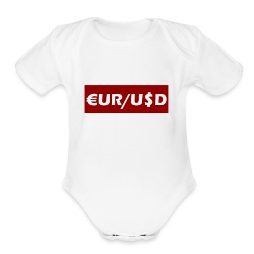 EUR/USD - Organic Short Sleeve Baby Bodysuit