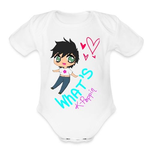WHAT'S K-POPPIN - Organic Short Sleeve Baby Bodysuit