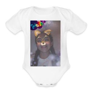 28A4F1B8 E085 47BE 916C CC050DD6094D - Short Sleeve Baby Bodysuit