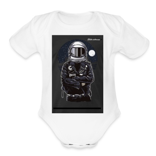 Elite astronaut men t-shirt - Organic Short Sleeve Baby Bodysuit