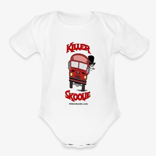 killerskoolie - Organic Short Sleeve Baby Bodysuit