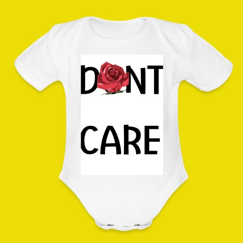Dont Care - Organic Short Sleeve Baby Bodysuit